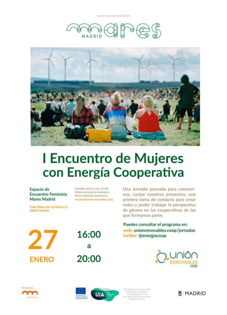 Cartel. Primer Encuentro de mujeres con energía cooperativa